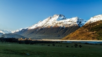 The perfect location for jet boating - Dart River Valley Mt Aspiring National Park New Zealand