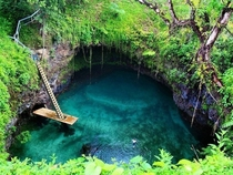 The perfect swimming hole - Tosua Pool Samoa