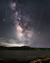 The Perseid meteor shower over Central Texas