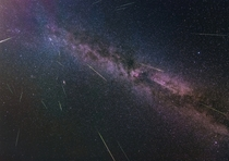 The Perseids  Photograph by Hipydeus