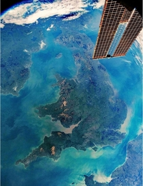 The photo was snapped from low orbit as the ISS travelled past on February  The spacecrafts altitude was  nautical miles away from Earth about the same distance it takes to drive from central London to Manchester by car via the M