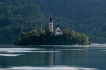 The Pilgrimage Church of the Assumption of Mary on Bled Island in Slovenia Built in the th century