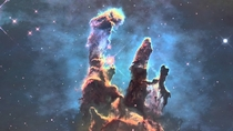 The pillars of creation massive stellar nebulas