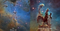The Pillars of Creation My image compared to Hubbles
