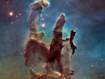 The Pillars of Creation part of the Eagle Nebula M