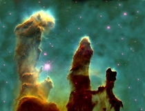 The Pillars of Creation Taken with the Hubble Telescope The Pillars consist mostly of molecular hydrogen helium and dust all the ingredients needed to form stars and planetary systems around them  NASA
