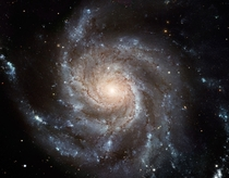 The Pinwheel Galaxy M is  light-years across or nearly twice the diameter of our Milky Way galaxy