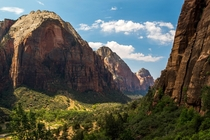 The place I dream of on cold winter nights Zion National Park Utah