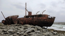 The Plassey shipwreck of Inisheer Washed ashore