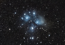 The Pleiades - AKA the Seven Sisters and Messier  - I shot this while on an RV trip with the family near Barrie Ontario Canada Heidi Campgrounds