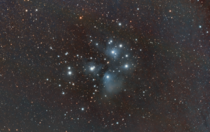 The Pleiades from my light polluted backyard OC