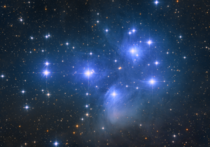 The Pleiades Star Cluster imaged from my backyard