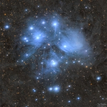 The Pleiades star cluster is an alluring visual sight in the night sky but deep photographic exposure reveals another level of beauty