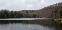 The Pogue a lake near Woodstock Vermont during April