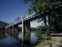 The  Point of Rocks Bridge over the Potomac River Point of Rocks Maryland ca  by Carol M Highsmith This crossing was used by the Confederates to invade and retreat from the North multiple times during the Civil War It is now the Heritage Corridor US