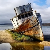 The Point Reyes aground in Tomales Bay CA