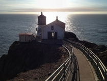 The Point Reyes Lighthouse at sunset