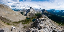 The pointiest mountain Ive ever seen Mount Birdwood An amazing hike in Kananaskis Canada  nickphys