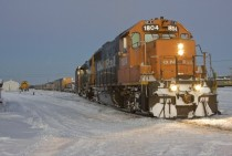 The Polar Bear Express train Moosonee Ontario