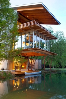 The Pond House at Ten Oaks Farm in Hammond Louisiana designed by Holly amp Smith Architects