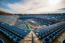 The Pontiac Silverdome The former home of the Detroit Lions now sits abandoned by Johnny Joo