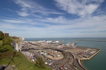 The Port at Dover with France visible on the horizon August