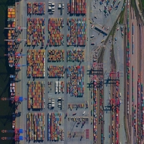 The Port of Hamburg - known as Germanys Gateway to the World - is located on the Elbe River in Hamburg On an average day the facility is accessed by  ships  freight trains and  trucks In total the port moves  million tonnes of cargo each year