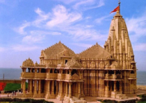 The present Somnath temple was reconstructed in the Chaulukya style of temple architecture in  on the shores of the Arabian sea in Gujarat Destroyed over dozens of times it represents that the power of reconstruction is always greater than the power of de