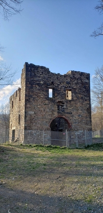 The President Pump house at the Uberoth Zinc mine Freidensville Lehigh County PA Once housed the largest steam powered water pump in the world Photo taken April  Efforts have started with Lehigh University to preserve amp map this historic site