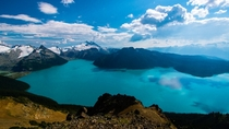 The pristine Garibaldi Lake viewed from Panorama Ridge Trail in BC