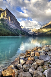 The pristine waters of Lake Louise Alberta
