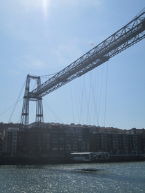 The Puente de Vizcaya  Bizkaiko Zubia Bilbao - the oldest transporter bridge in the world