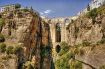 The Puente Nuevo Ronda province of Mlaga Spain What you see above the main arch once served as a prison