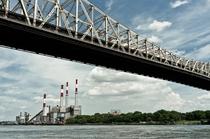 The Queensboro Bridge and the Ravenswood No Big Allis Power Station In Queens New York
