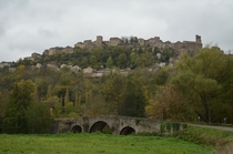 The ramparts of walled village Cordes-Sur-Ciel Francebuilt in