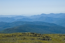 The rare -mile view from the summit of Mount Washington NH  OC - they judge distance by which range you can see