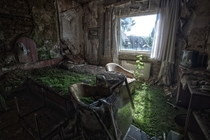 The real abandoned Hotel Room before it was destroyed