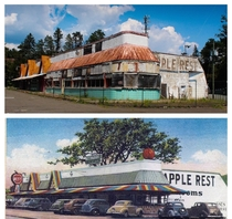 The Red Apple Road Side Diner in Southfields NY Opened in  Abandoned  Diner Hosted Many Celebrities and Hit Its Peak in  W  Million Customers That Year