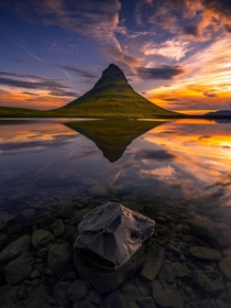 The Reflection of Kirkjufell Iceland