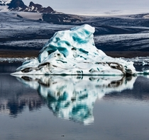 The reflections of an iceberg in a glacier lagoon in Iceland  - more of my landscapes at insta glacionaut