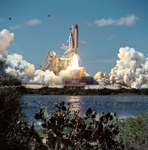 The refurbished space shuttle Atlantis takes off in   Photo NASA