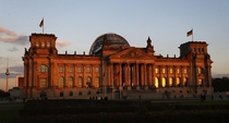 The Reichstag building seat of the Bundestag