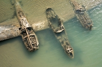 The remains of an American WWII aircraft that crashed on a beach in Wales