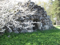 The remains of an old stone cellar near Bnan Gvle Sweden