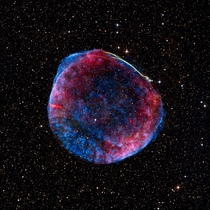 The remnant of the supernova SN  seen at many different wavelengths