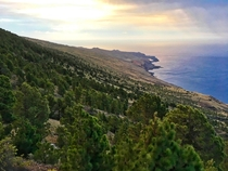 The remote coast of El Hierro Canary Islands