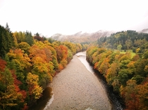 The River Tummel in Autumn Scottish Highlands