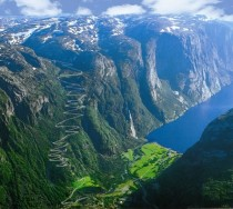 The road at the end of Lysefjorden Norway