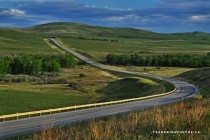 The road to Longview Southwest of Calgary Alberta  OS photo by Frank King
