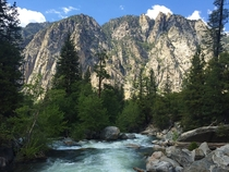 The Roaring River in Kings Canyon National Park